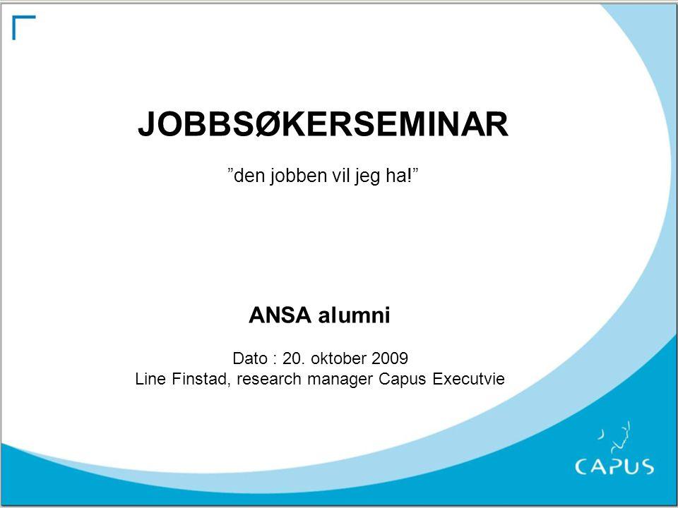 Line Finstad, research manager Capus Executvie