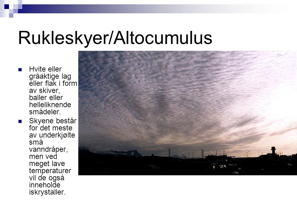 Rukleskyer/Altocumulus