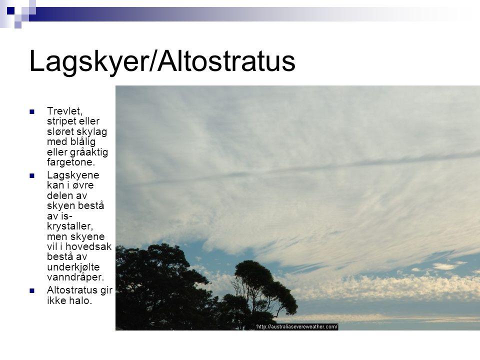 Lagskyer/Altostratus