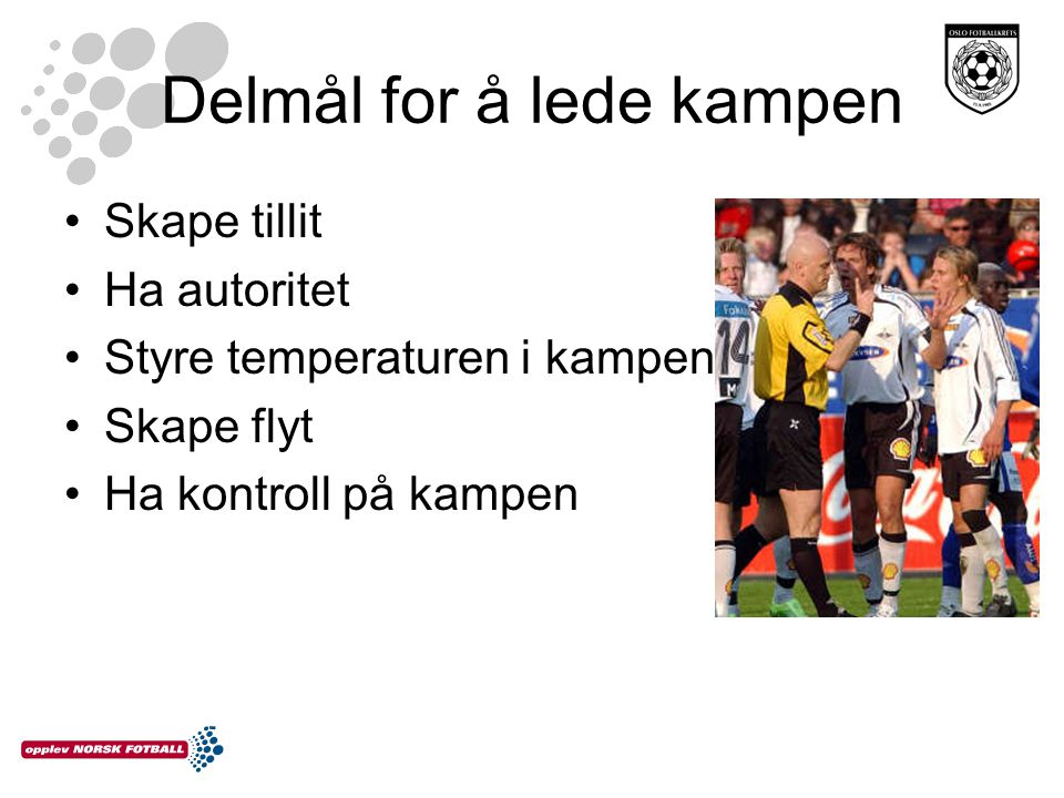 Delmål for å lede kampen