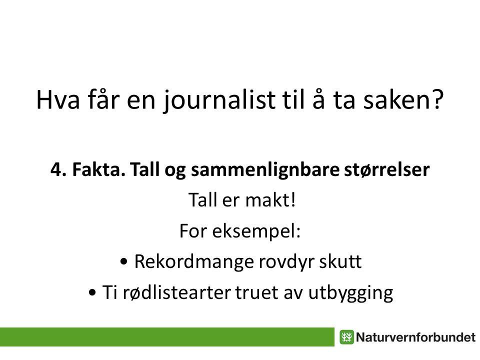 Hva får en journalist til å ta saken