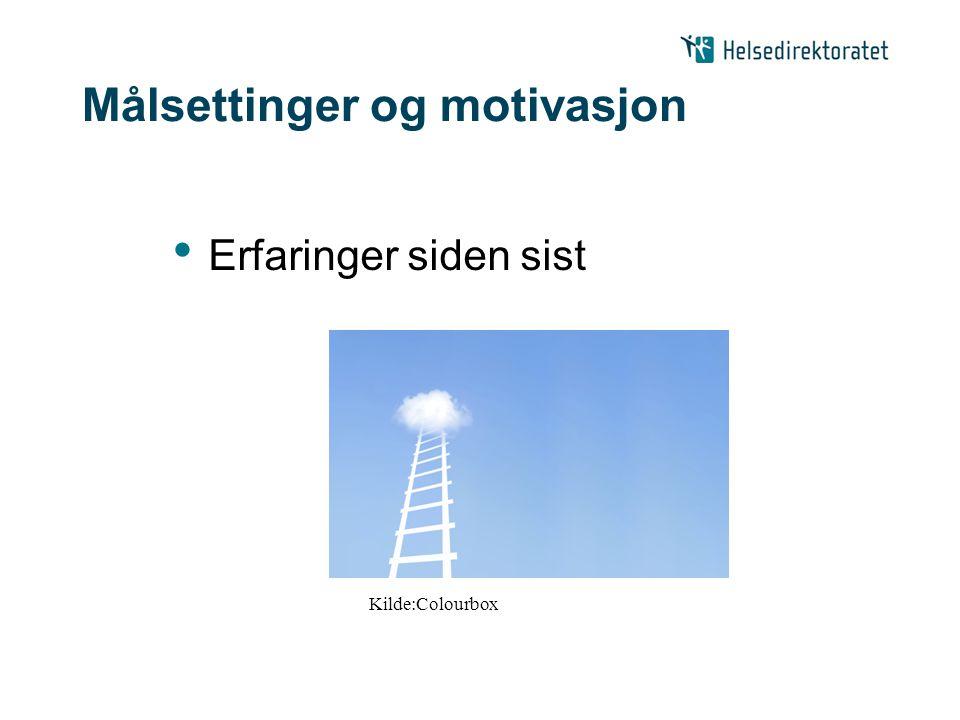 Målsettinger og motivasjon
