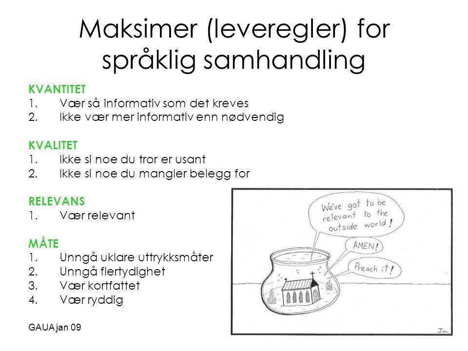Maksimer (leveregler) for språklig samhandling