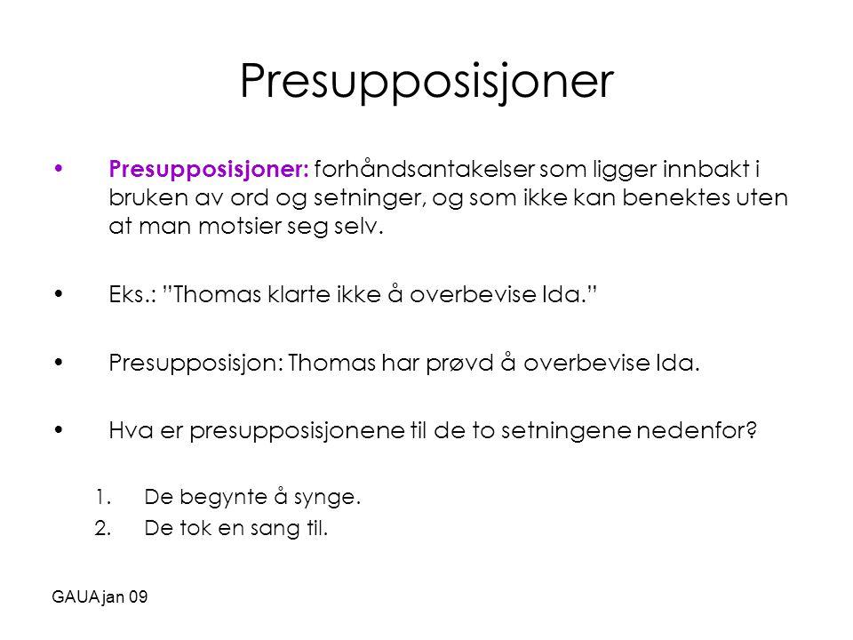 Presupposisjoner