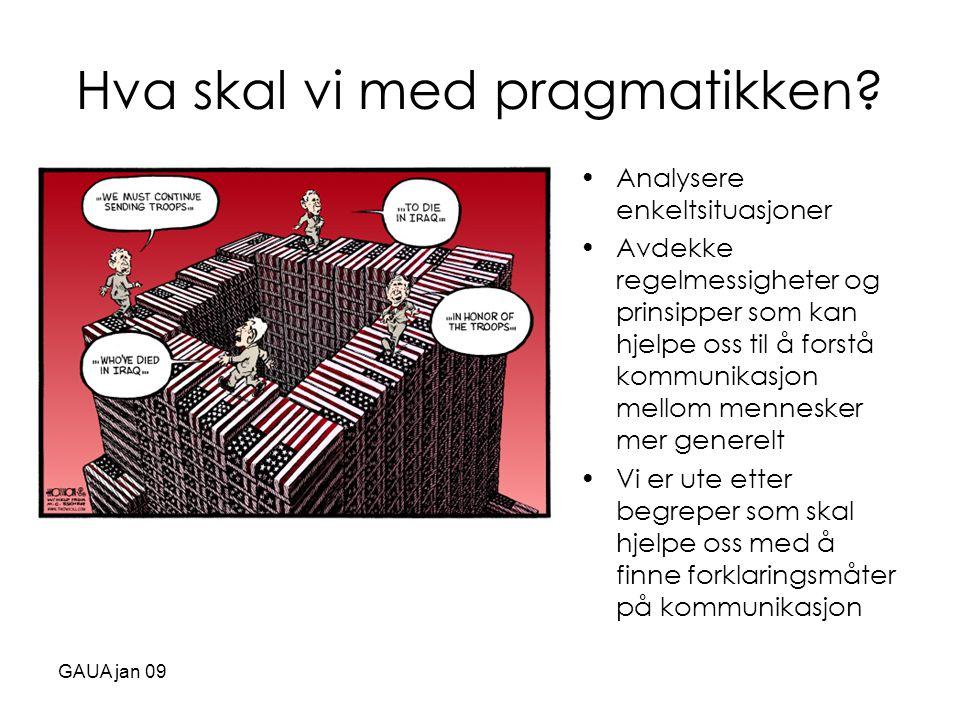 Hva skal vi med pragmatikken