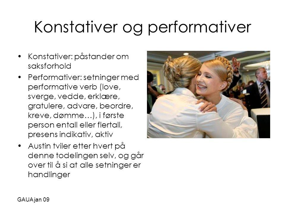Konstativer og performativer