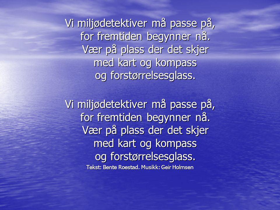 Tekst: Bente Roestad. Musikk: Geir Holmsen