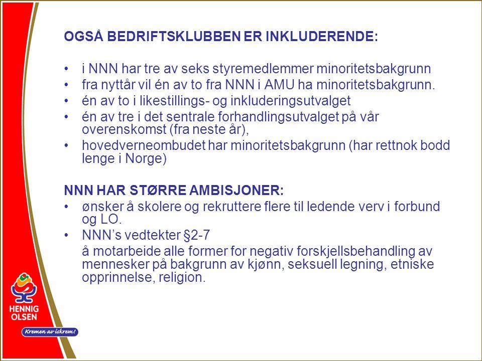 OGSÅ BEDRIFTSKLUBBEN ER INKLUDERENDE: