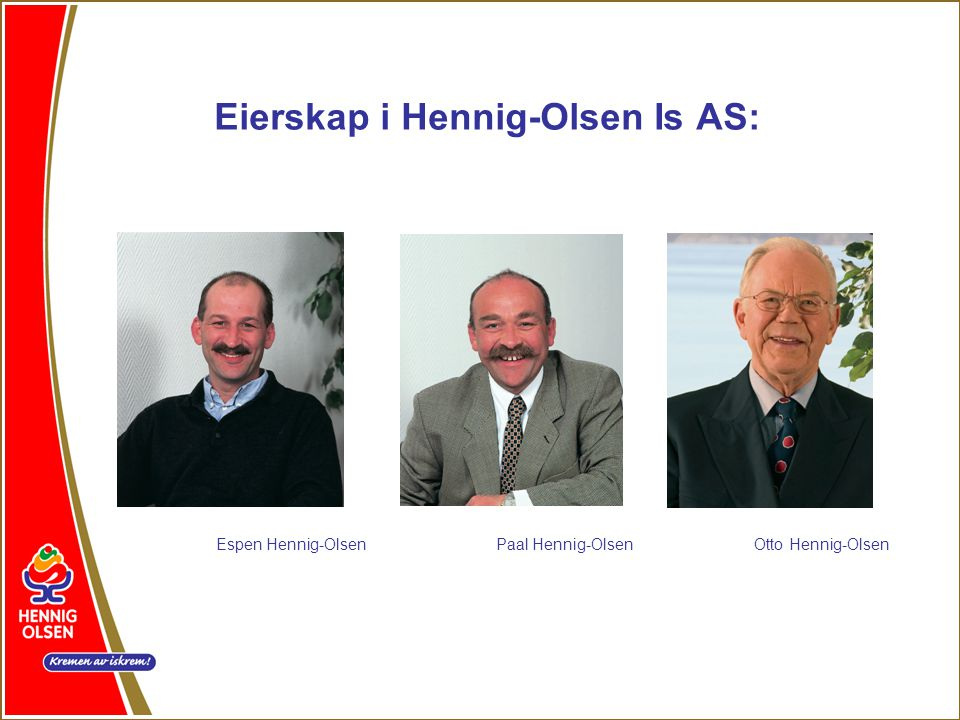 Eierskap i Hennig-Olsen Is AS: