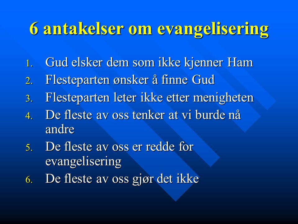 6 antakelser om evangelisering