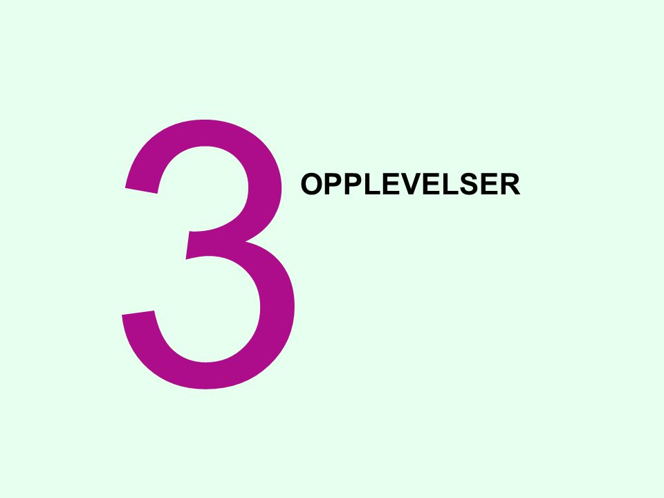 3 OPPLEVELSER