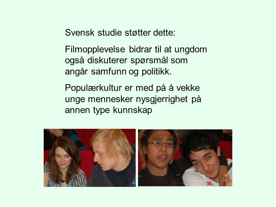 Svensk studie støtter dette:
