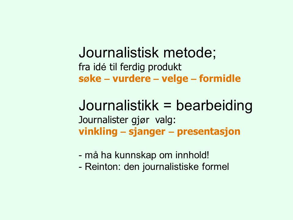 Journalistisk metode;