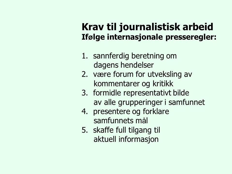 Krav til journalistisk arbeid