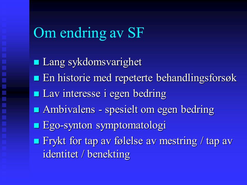 Om endring av SF Lang sykdomsvarighet