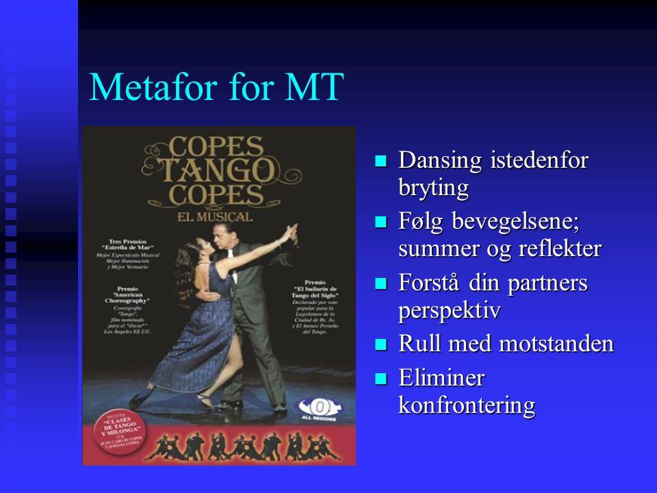 Metafor for MT Dansing istedenfor bryting