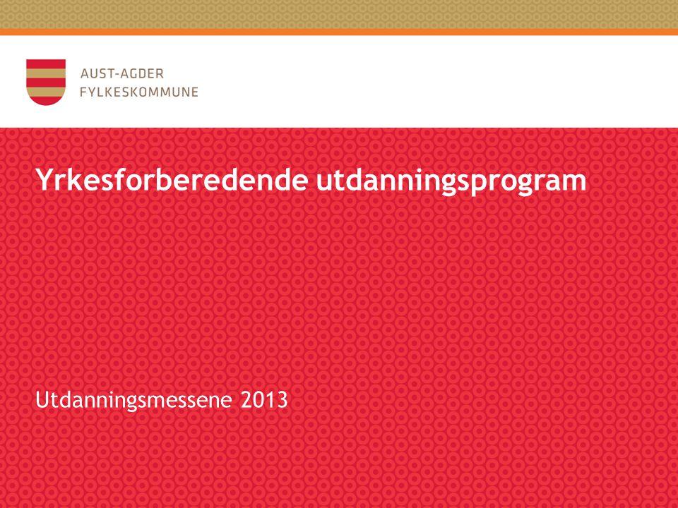 Yrkesforberedende utdanningsprogram