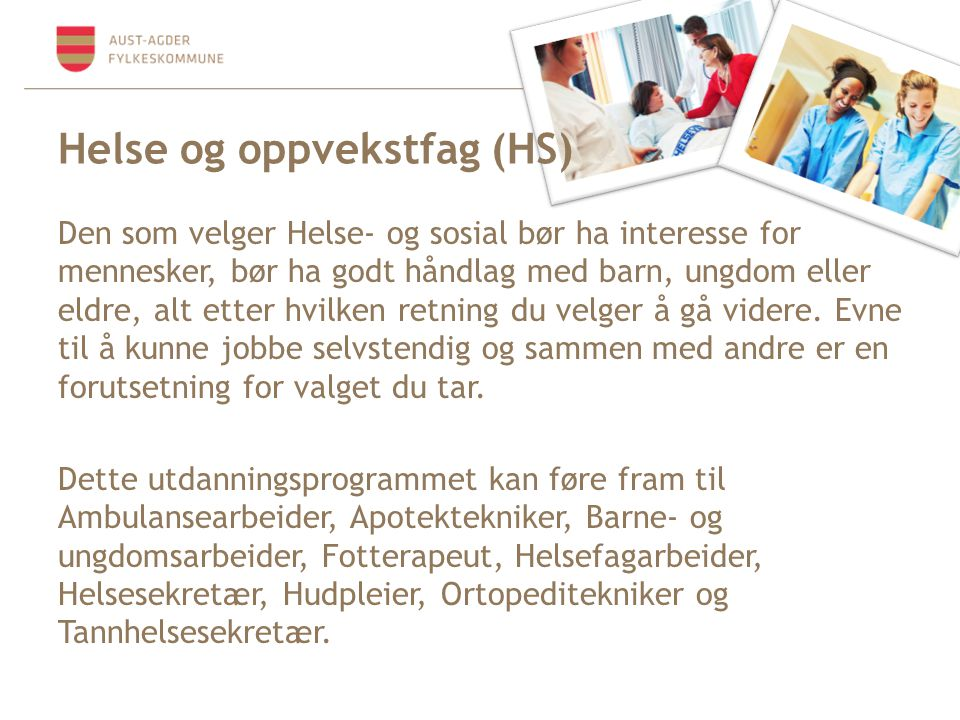 Helse og oppvekstfag (HS)