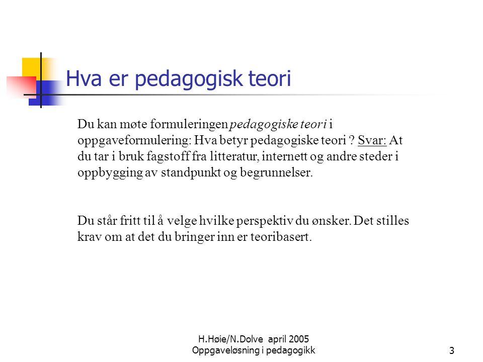 Hva er pedagogisk teori