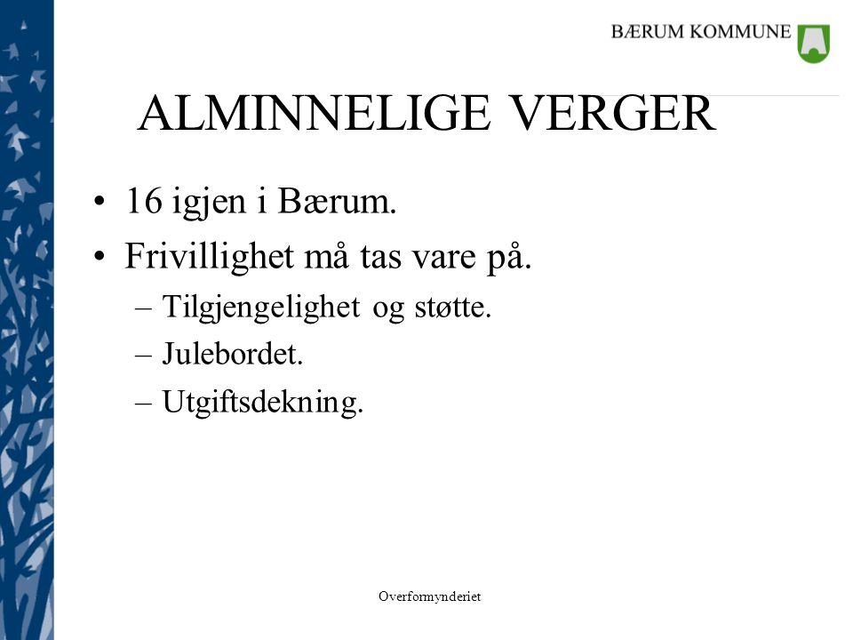 ALMINNELIGE VERGER 16 igjen i Bærum. Frivillighet må tas vare på.