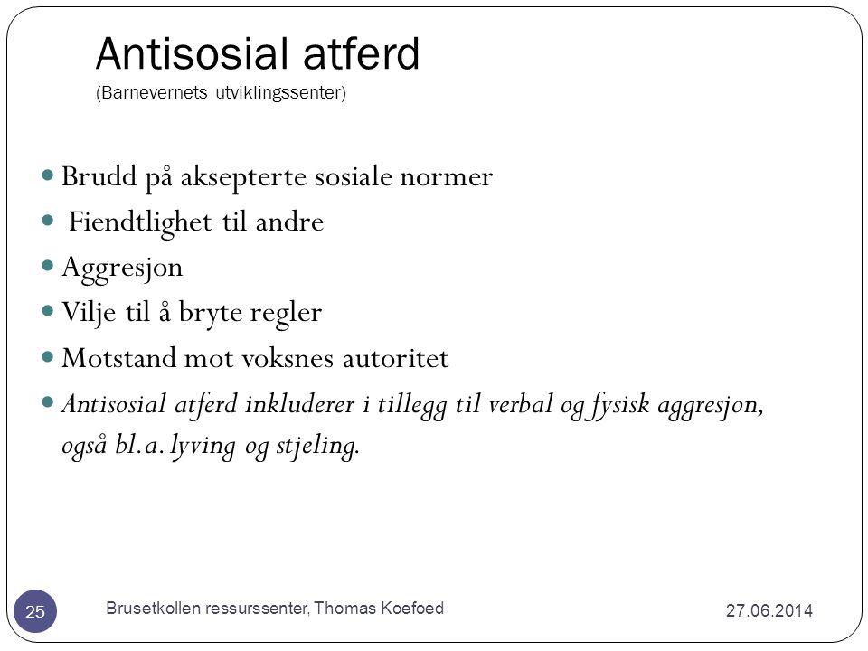 Antisosial atferd (Barnevernets utviklingssenter)