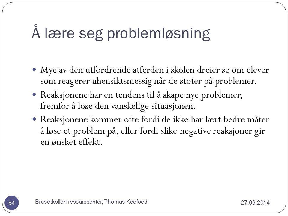 Å lære seg problemløsning