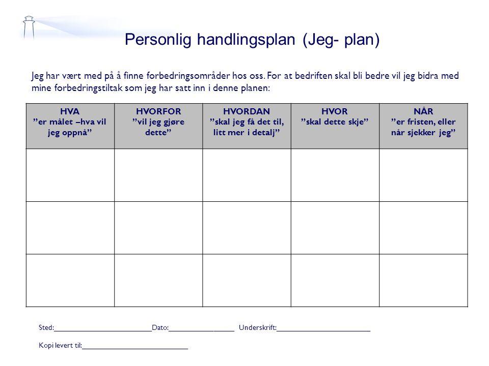Personlig handlingsplan (Jeg- plan)