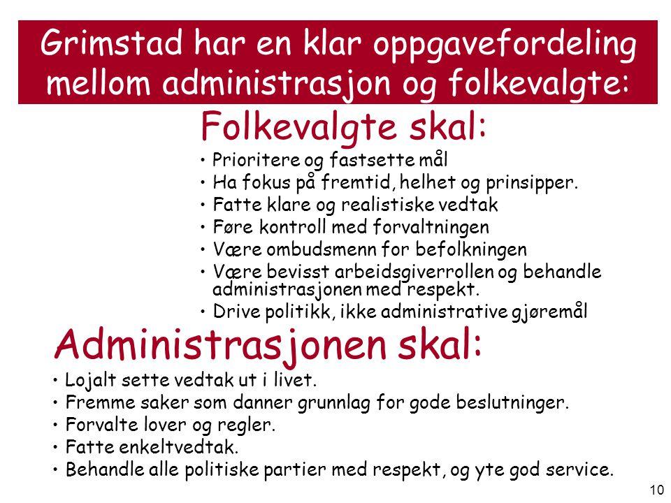 Administrasjonen skal: