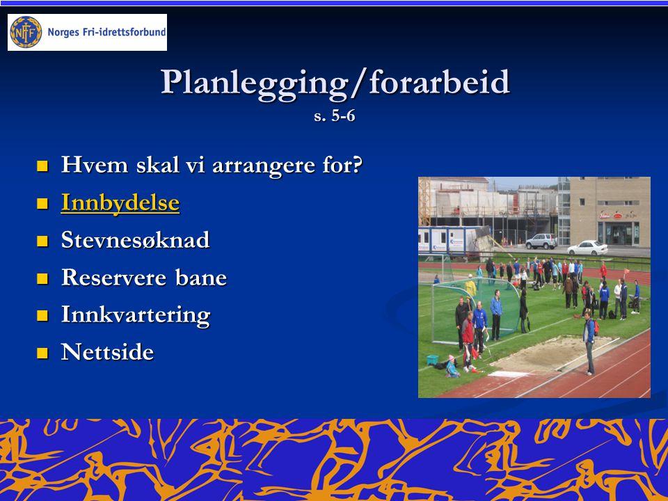 Planlegging/forarbeid s. 5-6