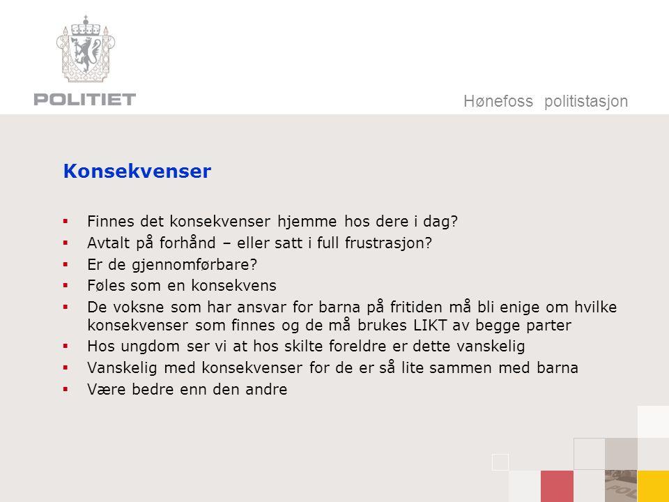 Konsekvenser Hønefoss politistasjon