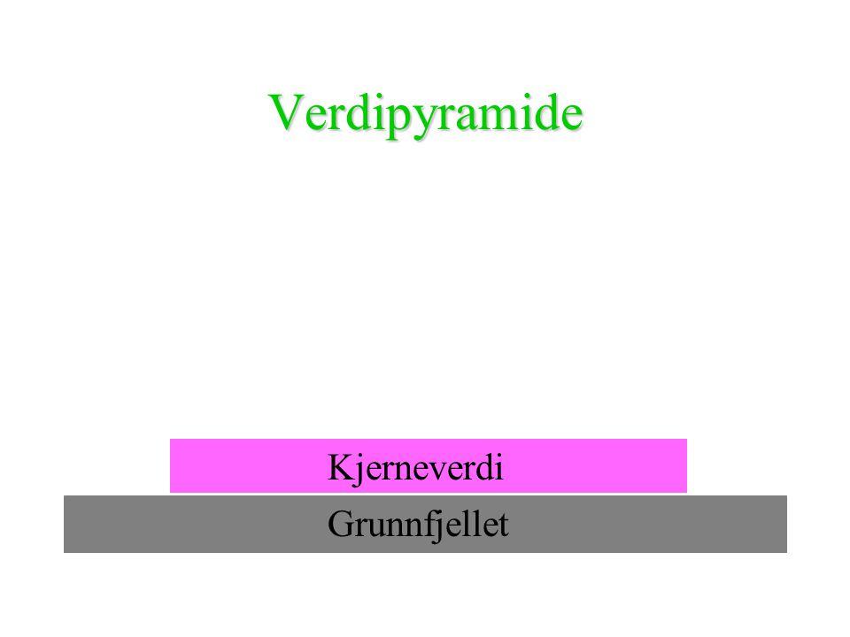 Verdipyramide Kjerneverdi Grunnfjellet