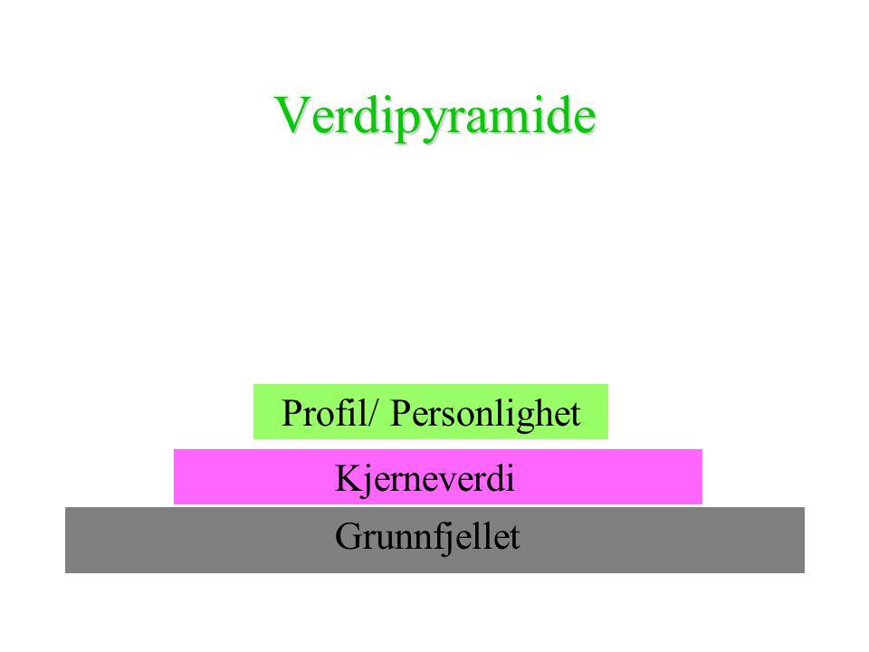Verdipyramide Profil/ Personlighet Kjerneverdi Grunnfjellet