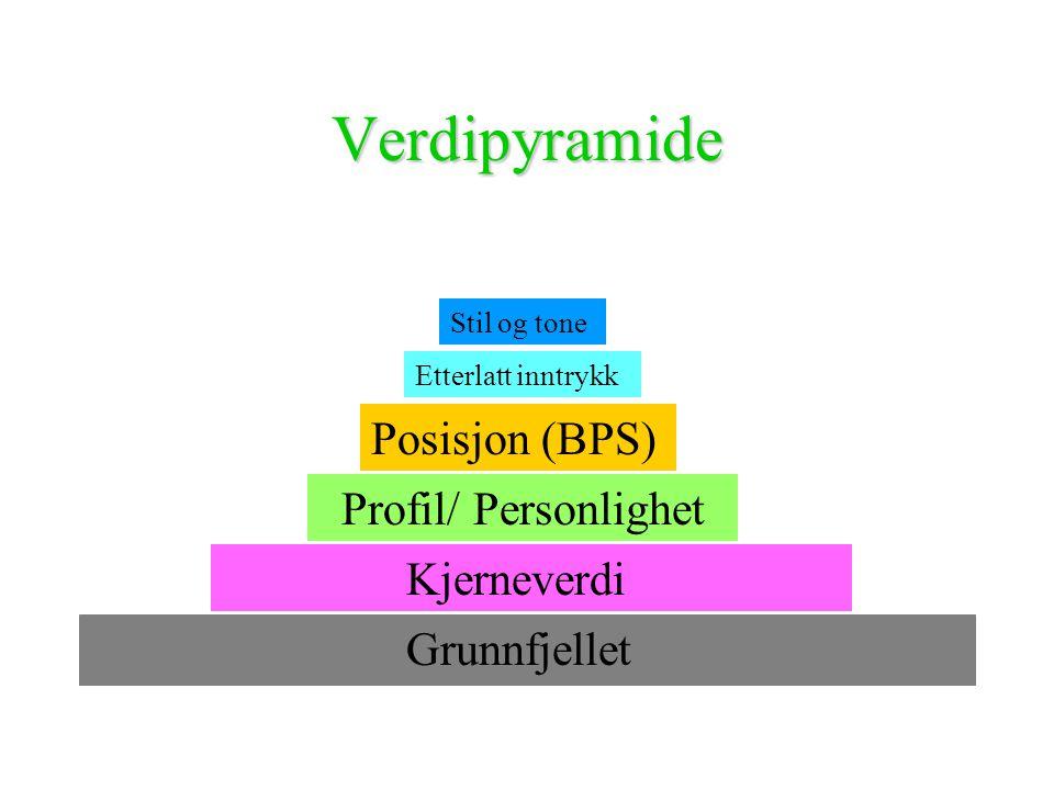 Verdipyramide Posisjon (BPS) Profil/ Personlighet Grunnfjellet
