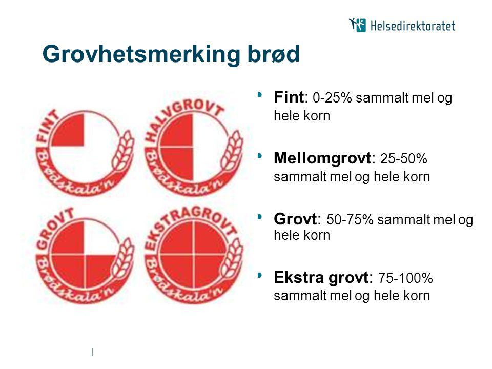 Grovhetsmerking brød Fint: 0-25% sammalt mel og hele korn