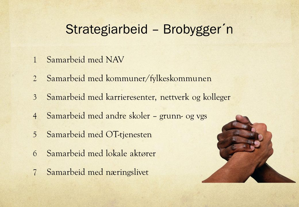 Strategiarbeid – Brobygger´n
