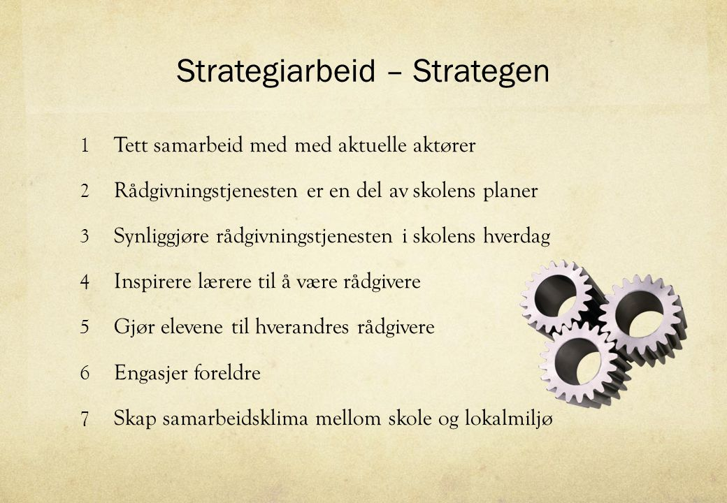 Strategiarbeid – Strategen