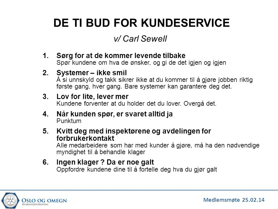 DE TI BUD FOR KUNDESERVICE