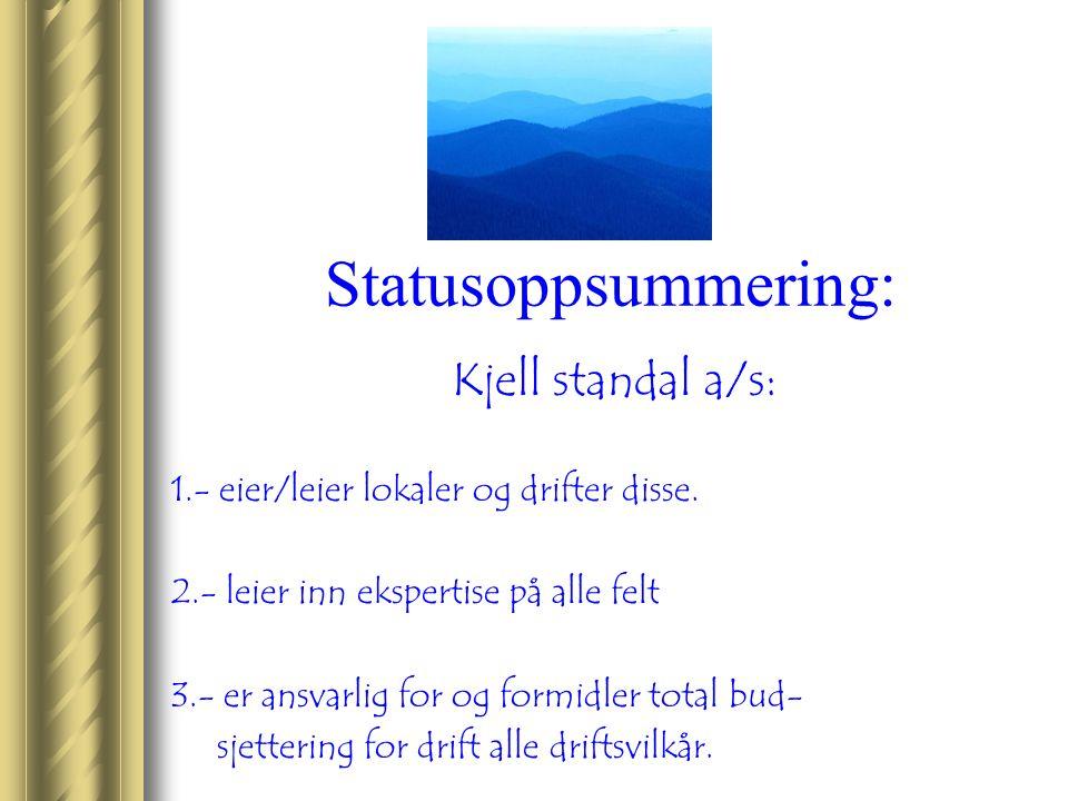Statusoppsummering: Kjell standal a/s: