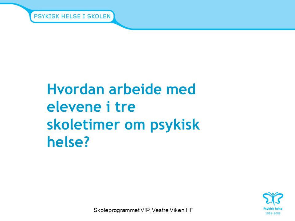 Skoleprogrammet VIP, Vestre Viken HF