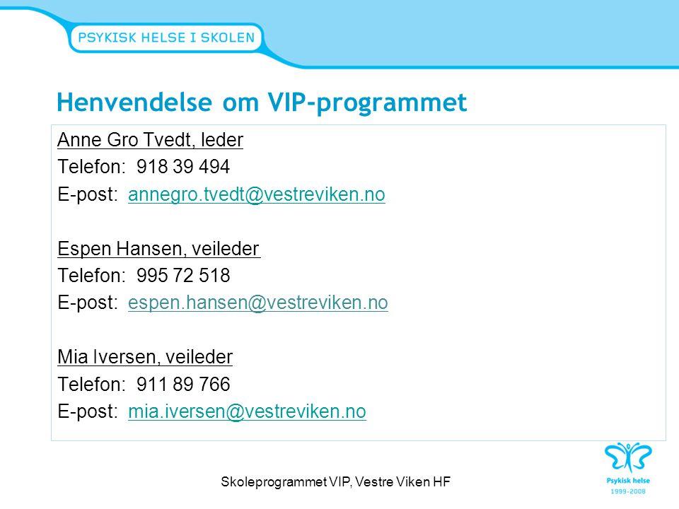 Henvendelse om VIP-programmet