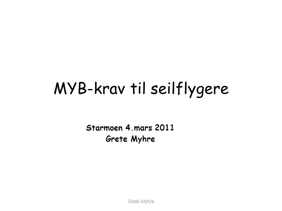 MYB-krav til seilflygere