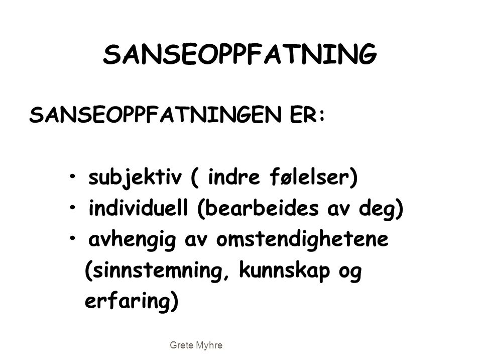 SANSEOPPFATNING