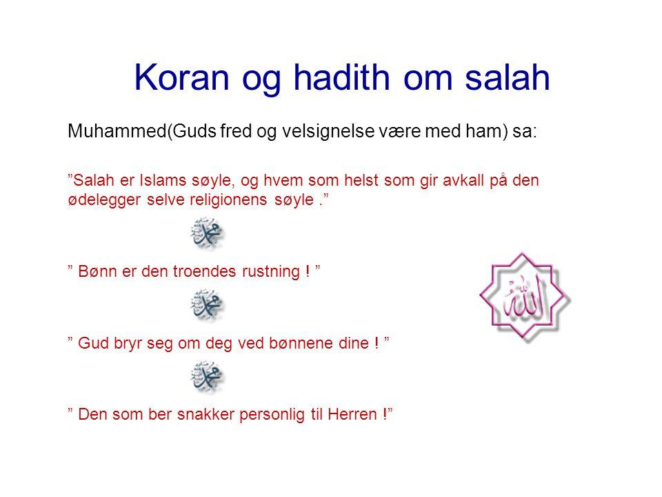 Koran og hadith om salah