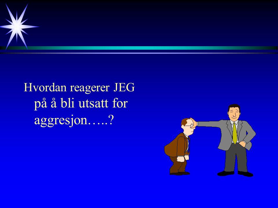 Hvordan reagerer JEG på å bli utsatt for aggresjon…..
