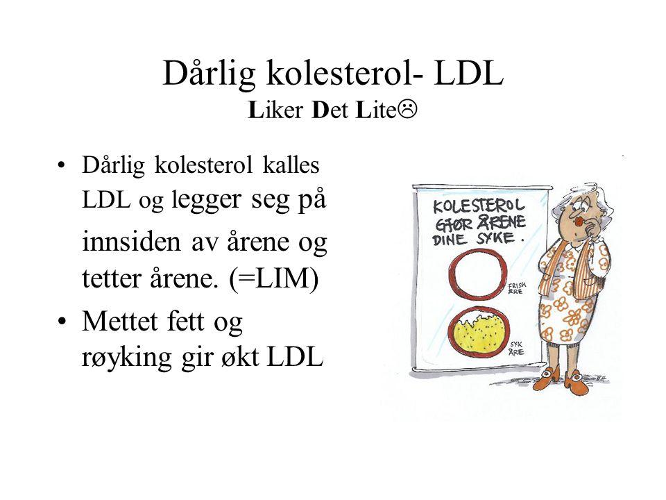 Dårlig kolesterol- LDL Liker Det Lite