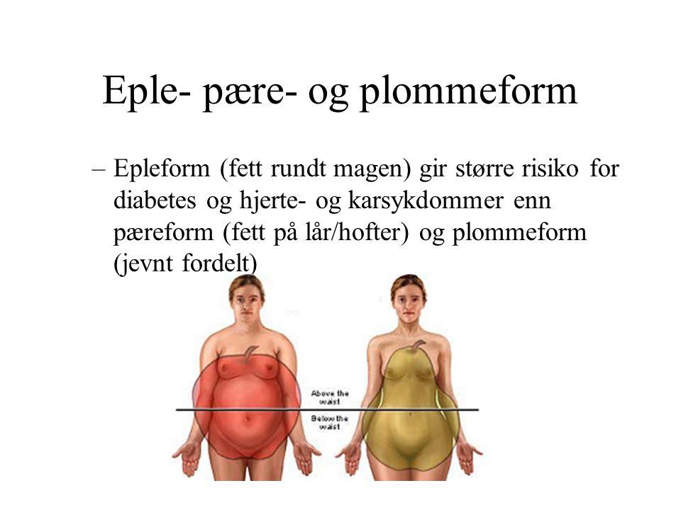 Eple- pære- og plommeform