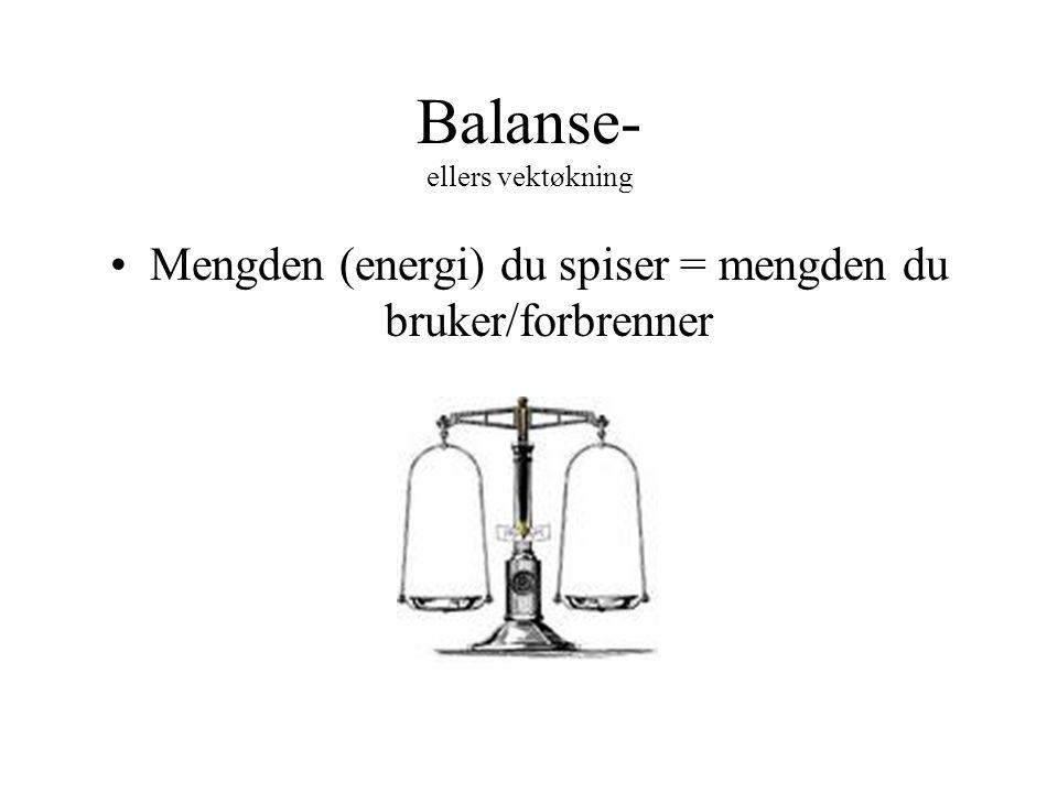 Balanse- ellers vektøkning