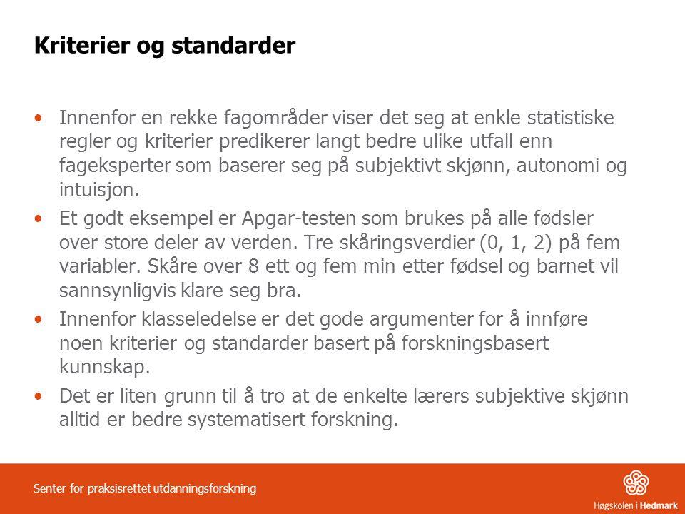 Kriterier og standarder