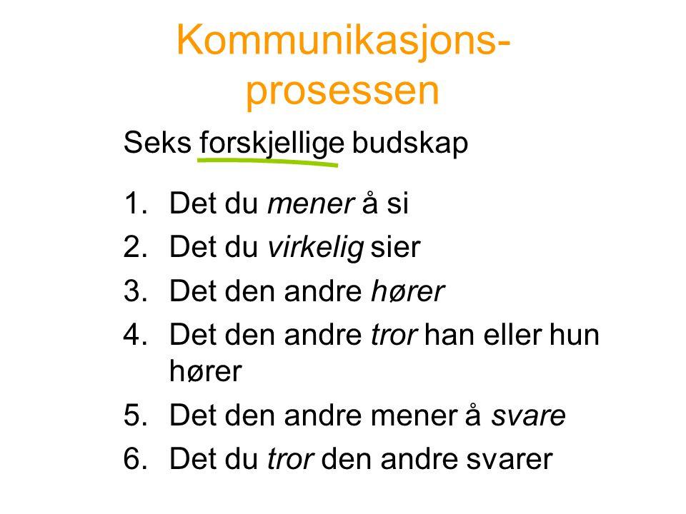Kommunikasjons- prosessen