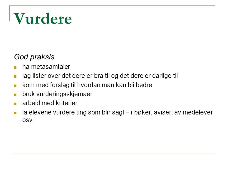 Vurdere God praksis ha metasamtaler